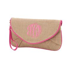 "- 12.25"" L x 2"" W x 6.75"" H - Burlap - Snap Closure - Detachable Wristlet Strap - Detachable Crossbody Strap - Inside Zipper Pocket"