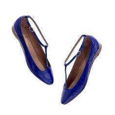Avril Gau Bimi Flats Shiny Shoes, Suede Shoes, Shoe Boots, Flat Shoes, Avril Gau, Ballet Shoes, Shoes Sandals, T Strap Flats, Cute Flats