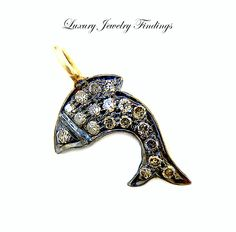 Fish Charm, Sterling Silver Diamond Charm for Jewelry Making, Bracelet Charm, Luxury Jewelry Findings, Charms  Necklace, Tiny Fish Charm by LuxuryJewelryFinding on Etsy