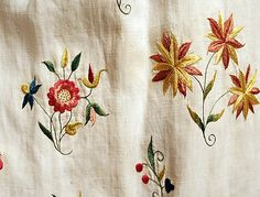 Fashion from century ball gown dress Robe a l Anglaise circa from British, England in Embroidery Fabric, Floral Embroidery, Embroidery Designs, 17th Century Clothing, 18th Century Fashion, Rococo Fashion, Vintage Fashion, Contemporary Dresses, Embroidered Flowers
