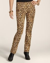 So Slimming By Chico's Animal 5-Pocket Pant