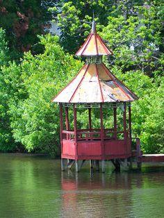Gazebo over water - Clark Pond, Cain Rd Fayetteville, NC