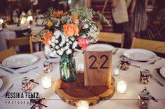 Indianapolis Wedding Photographer, North Side Indianapolis Wedding, rustic wedding decor, wooden centerpieces, wooden table numbers, tent wedding, backyard wedding