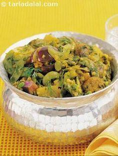 Pressure Cooker Oondhiya recipe | Indian Subzi Recipes | by Tarla Dalal |