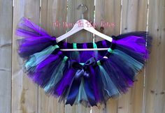 Evil Fairy/ Purple Black and Green Halloween Tutu/ Costume Tutu/ Elastic waistband by TURunTUPlayTutus on Etsy Halloween Tutu Costumes, Evil Fairy, Purple And Black, My Etsy Shop, Holidays, Green, Vacations, Holidays Events, Holiday