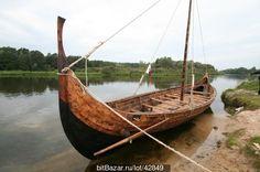 Реконструкция корабля викингов (Гокстад)  Reconstruction in Russia of the Gokstad Viking ship