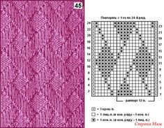 "Сиреневая безрукавка ""Лунтик"" (рост 104-110 см) с описанием Knitting Paterns, Knitting Charts, Lace Knitting, Knit Patterns, Knitting Projects, Crochet Stitches, Stitch Patterns, Knit Crochet, How To Purl Knit"