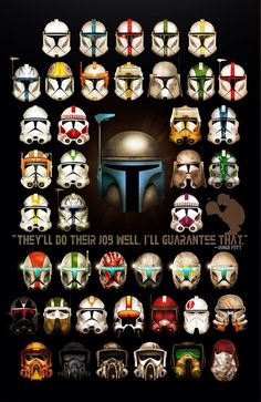 "Clones: ""They'll do their job well. I guarantee that."" - Jango Fett"