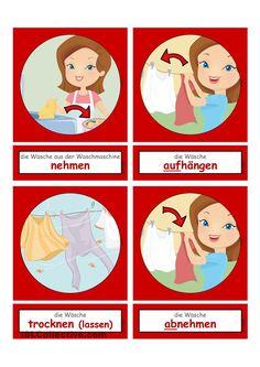 Waschtag_Verben 1 _  Flashcards klein