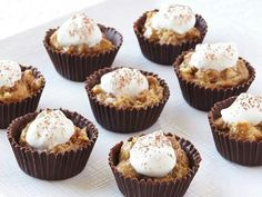Chocolate shell cupcakes tiramisu