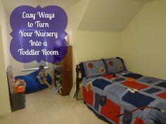 Easy Ways to Turn Your Nursery Into a Toddler Room via www.jmanandmillerbug.com