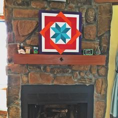 Just finished a new pattern! We're calling it a wrapped star. Rustic Barn, Rustic Wood, Barn Quilts For Sale, Barn Quilt Patterns, Farm Barn, Paint Chips, Garages, Memorial Day, Barns