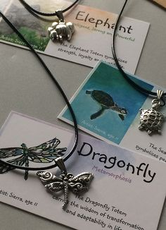 Smiling Widom - Turtle, Dragonfly, Baby Elephant Totem Minis Gift Set - Kids 2017 Valentine's Day Gifts - 3 Spirit Animal Necklace Value Pack - Gifts For Tweens, Teens - Birthday Party Favors, BFF * Details can be found by clicking on the image.