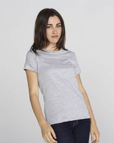 Bella Danielle short sleeve yoke t-shirts-6010 are made up of 30 single combed 100% cotton ring-spun weighing 4.2 oz., 142 gm/m2. This super soft t-shirt has been designed with contoured side seams which fit so well that your curves are well accentuated. With this cute jersey you can bring out the athlete in you in a feminine yet classic manner.