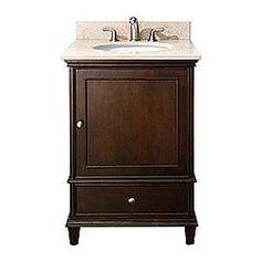 "24"" WINDSOR Bathroom Vanity (Walnut) #BathroomRemodel #BlondyBathHome #BathroomVanity  #TraditionalVanity"