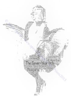 Marilyn Monroe Word-Art Print Mounted/Framed/Tote by SprattPrints