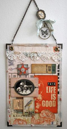 One Lucky Day: a DIY wall hanging to create and they have the letters, pictures and everything to use here! Thanks Lucky Day ~ Life is good!