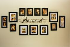 Black Frame Wall Collage Ideas