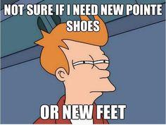 New feet