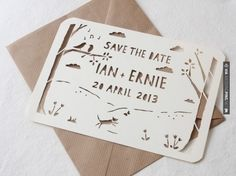 So neat! - save the date paper cut card | CHECK OUT MORE IDEAS AT…