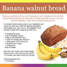 This is packed with all of our well known favourite ingredients to help you fight fibromyalgia. This extraordinary bread can be used for many occasions, hot or cold, and we like it with honey! Healthy Balanced Diet, Healthy Eating, Fibromyalgia Diet, Fibromyalgia Disability, Healthy Desserts, Healthy Recipes, Banana Walnut Bread, Different Recipes, Health Diet