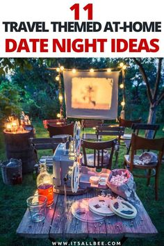 Affordable Romantic Date Night At Home - 11 affordable ways to have a date night with your partner without leaving your home. Cool and romantic ideas from movie night in, cooking together, massage night, cocktail hour at home and plenty more! Romantic Date Night Ideas, Romantic Dates, Romantic Gifts, At Home Date Nights, Date Night In, At Home Dates, Romantic Vacations, Romantic Destinations, Travel Destinations