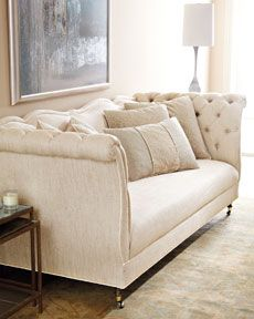 "Shop ""Samantha"" Sofa from Haute House at Horchow, where you'll find new lower shipping on hundreds of home furnishings and gifts. Sofa Furniture, Living Room Furniture, Furniture Design, Fancy Living Rooms, My Living Room, Tufted Sofa, Sofa Cushions, Decoration, Home Furnishings"