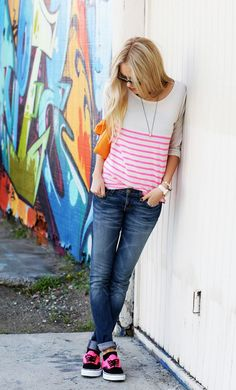 vans and stripes, casual cool