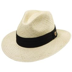 3a1598e1 Tommy Bahama Headwear Panama Safari Hat with 3 Pleat Band, Men's, Size:  Small/Medium, Black