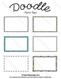 Free Printable Elegant Name Tags The Template Can Also Be Used