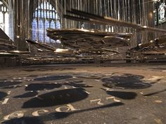 Thought-provoking, Suspended Installation of Silver Objects | it COLOSSAL