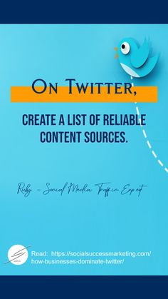 How to dominate Twitter and rule your industry  #TwitterTip #contentmarketing #businessstrategy #socialmediamarketing #TwitterHacks Marketing Tactics, Content Marketing, Social Media Marketing, Twitter For Business, Business Tips, Create List, Twitter Tips, Reading, Word Reading
