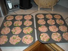 We have always made our own dog food, but I love the idea of individual muffin tins so Nick stops over feeding!