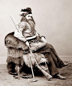 Seth Kinman, mountain man, bear hunter, indian fighter, story teller, 1865