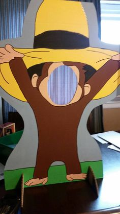 Curious George Painted Photo Op Display / Cutout Board