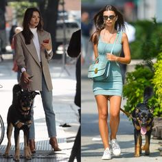 Happy #nationaldogday!! With the queen of hot dog walking outfits @emrata which Dog Walking, Special Occasion Dresses, Dog Days, Hot Dogs, Fashion Show, Bodycon Dress, Queen, Happy, Outfits