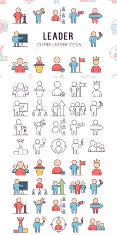 Leader Vector Free Icon Set is a collection of 20 themed images Kawaii Drawings, Easy Drawings, Work Icon, Office Icon, Icon Design, Design Web, School Icon, Doodles, Sketch Notes
