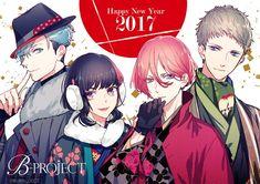 """B-PROJECT official on Twitter: """"◆◇HAPPY NEW YEAR 2017◇◆ 今年もよろしくお願いいたします 『素敵な1年になりますように』 2017.1.1 B-PROJECT(キタコレ/THRIVE/MooNs/KiLLER KiNG) #Bプロ #謹賀新年 https://t.co/yKgHAvEbb0"""""""
