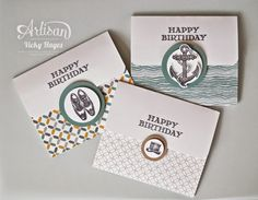 Give the classic Guy Greetings set a contemporary twist with these wallet style cards! - Vicky Hayes