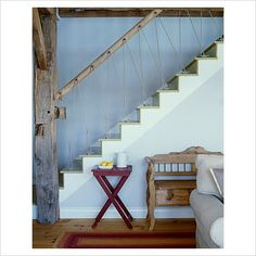Charmant Aspen Handrail + Rope Balusters Cottage Stairs, Cottage Curtains, Rope  Railing, Banister Rails