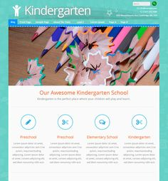 Kindergarten WordPress template