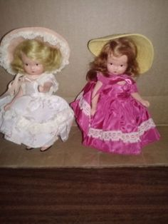 VINTAGE NANCY ANN STORYBOOK DOLLS.  RARE & RETIRED  (2) #DollswithClothingAccessories