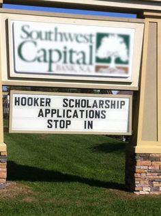 Hooker scholarships