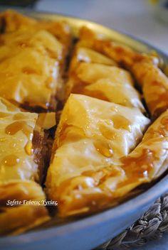 Γαλακτομπούρεκο, χωρίς ζάχαρη και βούτυρο!!! Greek Sweets, Greek Desserts, Low Carb Desserts, Greek Recipes, Greece Food, Sugar Free Recipes, Confectionery, Stevia, Cupcake Cakes