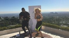Born fighter: Kate Hudson showed off her boxing moves and her toned figure as…