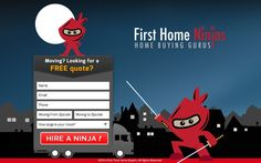 Create a fun moving quote landing page for FirstHomeNinjas.com by Maitri99