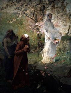 Dante meets Matilda ~ Albert Maignan 1881