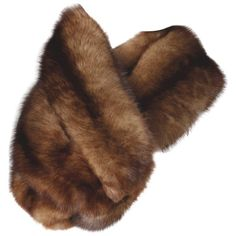 Preowned Pristine Vintage Barguzin Russian Sable Fur Wrap, Stole Or... ($1,595) ❤ liked on Polyvore featuring accessories, scarves, brown, stoles, brown scarves, long shawl, brown shawl, oblong scarves and vintage scarves