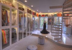 Back in July, the world was welcomed into the three-storey closet of entrepreneur Theresa Roemer. Now, the 278-square-metre, walk-in robe that cost her $600,000 to build is up for sale, and the best news is that it comes with a house — for $14.5 million. Unfortunately, Roemer's $2.4-million wardrobe, which features 60 Birkin bags and 75 pairs of Louboutins, isn't included. The collection will presumably find a home in her next project, which she reportedly wants to be twice the size.