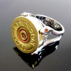 Attention: Santa. bullet shell ring